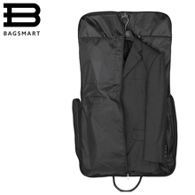 BAGSMART High Quality Suit Bag Black Fold Garment Men's Travel Bags With Zippered Pocket Portable Storage bag