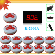 Pager Wireless Calling System Restaurant Guest Paging System 1 Host Display+10 Table Bells Call Button Customer Service(China)