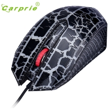 CARPRIE Colorful Backlight 1200DPI Optical Wired Gaming Mouse Mice For PC Laptop BK Jan19 MotherLander