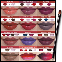 Pudaier Brand New Lipsticks Palette Waterproof Long Lasting DIY 9 Color Pigment White Blue Lip Palette with Makeup Brush