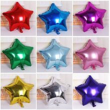 5 pcs/lot 10 inch Helium star Wedding Foil Balloons Inflatable 2016 Christmas new year Birthday Party Decorations multicolor