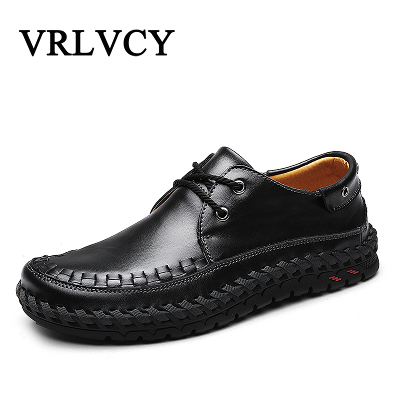 Mens Shoes Handmade Genuine Leather Men Casual Shoes Fashion Designer Men Leather Shoes Spring Men Shoes<br>