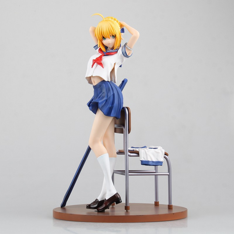 Anime Fate/stay night Fate Grand Order Saber/Altria 1/7 Scale Pre-painted Sexy PVC Action Figure Collection Model Toys Doll 25cm<br>