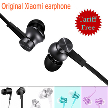 Original Mi Xiaomi Earphones Piston Basic with Mic Microphone Flat Wire Control Colorful Xiaomi Piston Headset Noise Cancelling