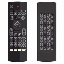 New MX3 Mini keyboard Remote Control 2.4G Air Mouse With 38 Keys Wireless Keyboard Backlight Wireless Automatic Calibration(China)