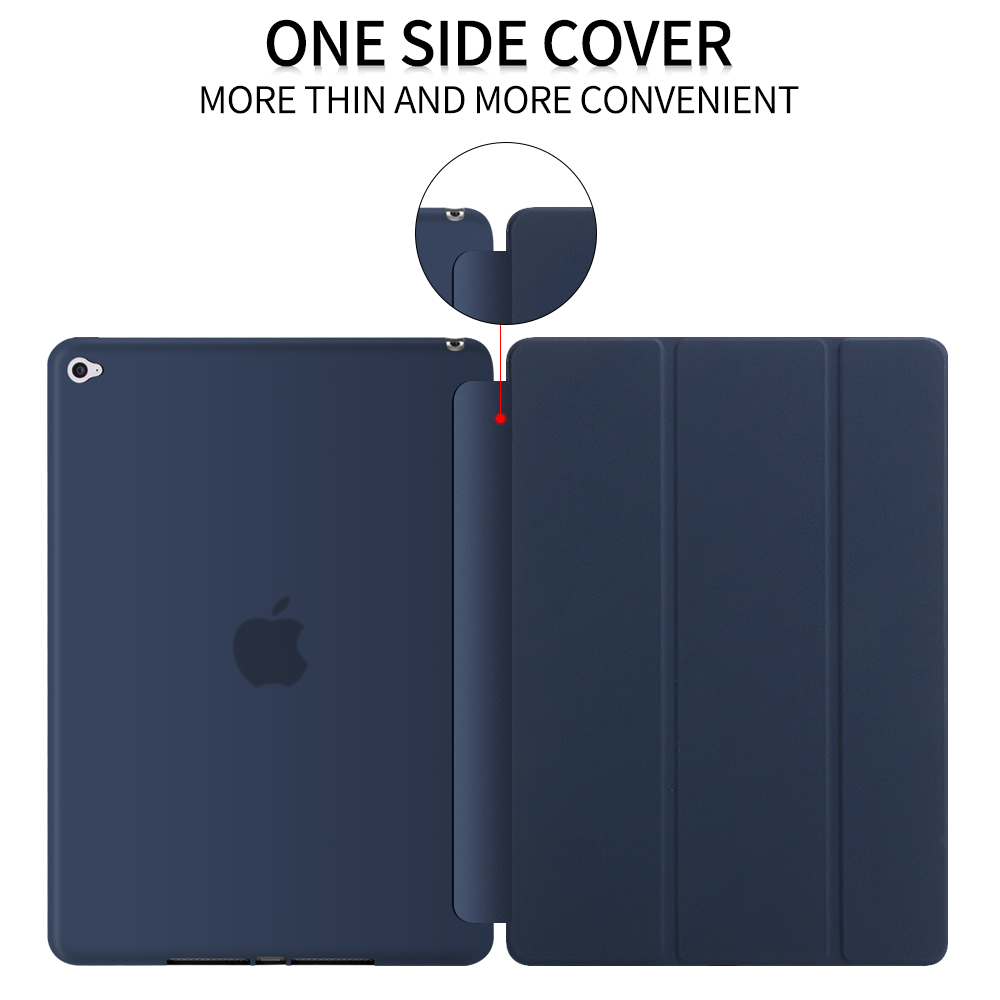 for iPad Air 2 case, GOLP Ultra Slim PU Leather Folio Covers Soft TPU Back Case Smart Cover Case For Apple iPad Air 2/for iPad 6