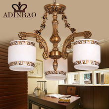 Chinese hotel traditional chandelier copper glass high quality 8025-3
