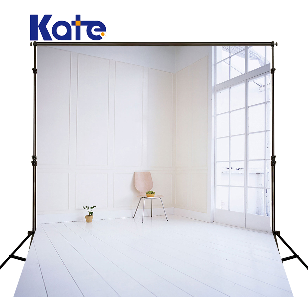 KATE Indoor Wedding Backdrop White Wood Floor Backdrops Windows Background Solid Brick Wall Background for Children Photo Studio<br>