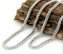Lot 10 Meters 6mm Silver  Stainless Steel Sheet  Wheat  Link Chain Jewelry Finding /Marking Chain Wholesale price