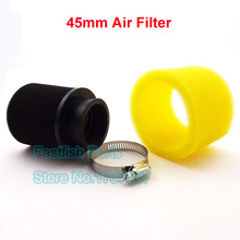 Black And Yellow 45mm Foam Air Filter For 140cc 150cc Dirt Pit Bike ATV Quad Go Kart Buggy Moped Scooter Motorcycle Motocross(China)