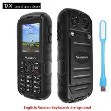 Huadoo H1 IP68 waterproof Outdoor Senior Old Man Dual Sim Mobile Phone Russia keyboard FM flashlight MP3 BT 2000mAh CellPhone(China)
