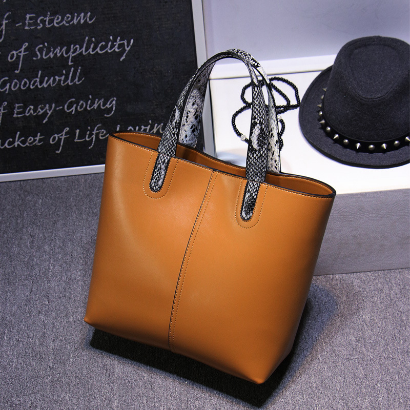 010818 new hot women handbag female leather large tote bag lady simple big bag<br>