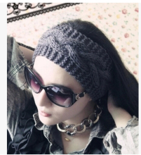 Crownless twisted knitted hat wigs hair women's autumn and winter hair band hat/Beanies