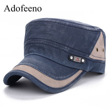 Adofeeno Fashion Military Cap Men Army Hats Women Spring New tactical Military Hat(China)
