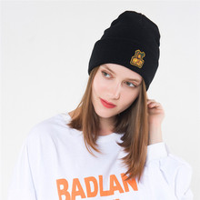 Casual Knitted Caps Hip Hop Hats Female Fashion Men Street Cute Cartoon Monkey Skullies Beanies Winter Skiing Copule Cap(China)