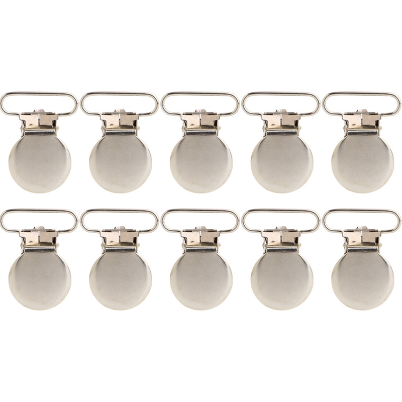 10 Pcs Lovely Metal Pacifier Suspender Clips Holders Clip Holder Cloth Decor