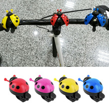 Hot ! Lovely Kid Beetle Ladybug Ring bicycle Bell For Cycling Bicycle Bike Ride Horn Alarm bike trumpet horn WHolesale(China)