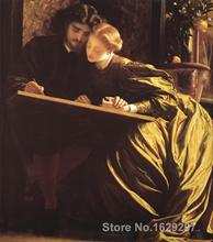 modern colorful paintings The Painters Honeymoon by Frederic Leighton High Quality Hand painted(China)
