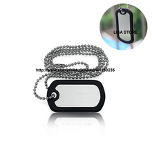 free shipping dhl 100pcs blank military dog tags silencer with 60cm chains,dog tags for men,dog pet id tags