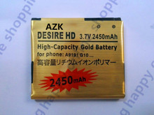 AZK New 1 pcs Gold Battery Batteries For HTC G10 A9191 Desire HD Surround T8788 T9188 T9199 BD26100