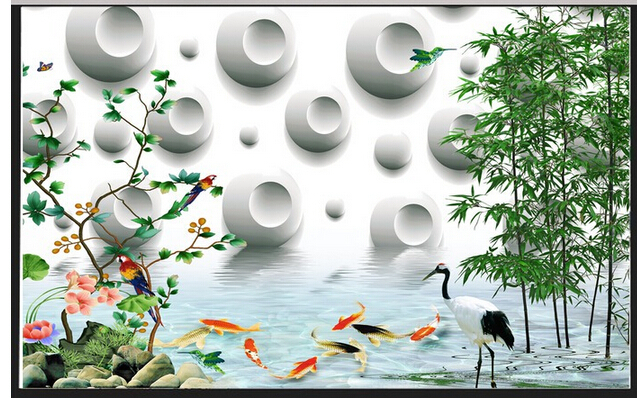 3D stereo bamboo photo wallpaper for living room Sofa TV background wall paper decorative painting 3d wallpaper<br><br>Aliexpress