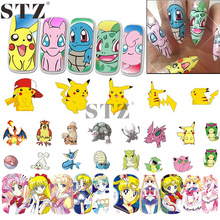 Nail Sticker Water Transfer Decal Cartoon Design Yellow Cute Image Girl Beauty Nail Art Care Sticker Tattoos Manicure STZ392-404