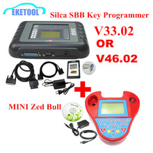 DHL Delivery Auto Key Programmer PRO OBD2 Transponder Silca SBB V33.02 OR V46.02&Mini Zed Bull SW V508 Works Multi-Car Key Maker