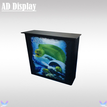 Exhibition Booth Pop Up Counter Podium Display With Fabric Banner Printing,Premium Advertising Promotional Table(China)