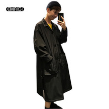 Oversize White Black Men Women Thin Trench Coat Fashion Casual Male Loose Long Cardigan Windbreaker Jacket Sunscreen Overcoat(China)