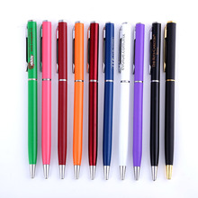 20pcs/lot Special offer wholesale flat metal ballpoint pen advertisement pen Can be printed LOGO hotel gift pen