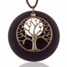 2017 New statement necklaces & pendants vintage Wooden Life Tree pendant Long necklaceWoman  women collares mujer colar choker