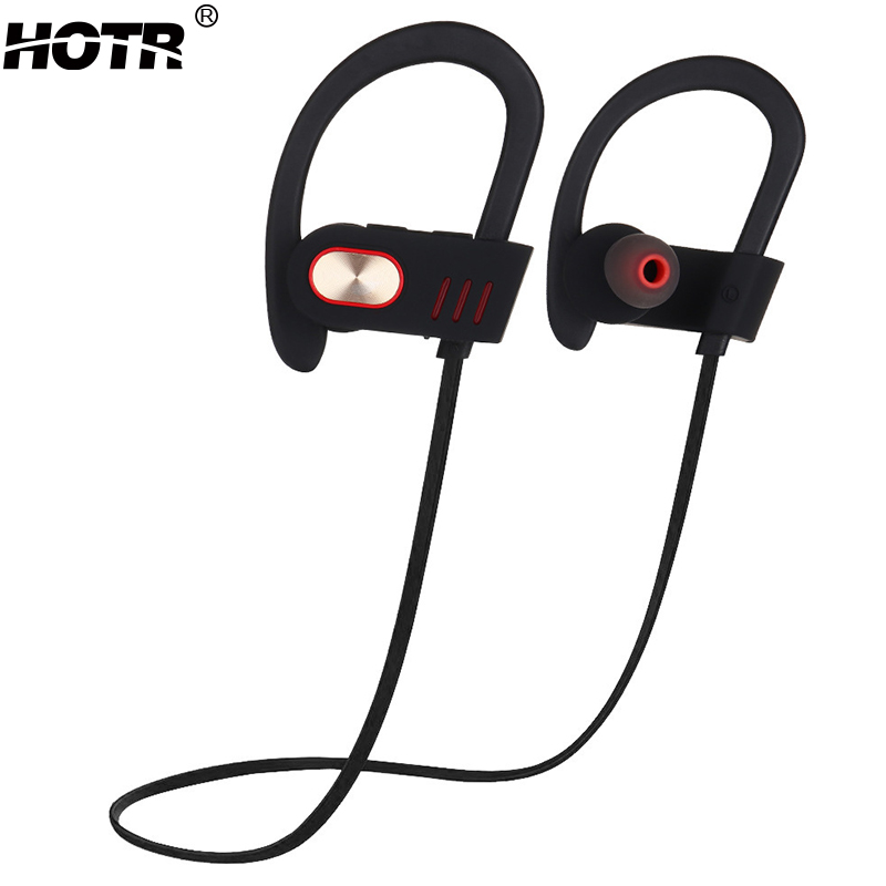 HOTR Ear Hook Bluetooth Earphone with Mic Professional Sport Music Earphone Wireless Sweat-proof Headphone Noise Cancelling<br><br>Aliexpress