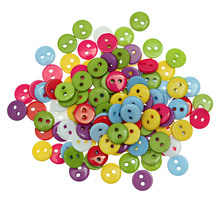 "DoreenBeads Resin Sewing Button Scrapbooking Round Mixed Two Holes 9mm(3/8"")Dia,55 PCs 2015 new(China)"