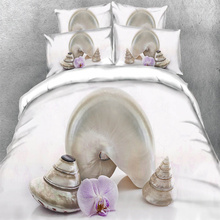 Luxury Snail Shell 3D Duvet Cover Adluts/Girls Bedding Sets White Twin Full Queen King Cal King Bedspreads Wedding Decor 3/4PC(China)