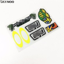 1 set Helmet Motorbike Car Sticker Decals Vinyl Tape Reflective for Rossi Tortoise Sun