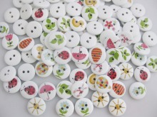 WBNKEO crafts and scrapbooking 200Pcs wholesale mixed lots 15mm Buttons mix baby clothes accessories