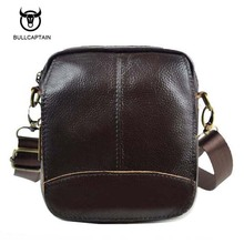 Bullcaptain 2017 Vintage Genuine Leather Bags Waist Packs For Men Belt Waist Bags For Men Casual Fashion Brand Business Bag(China)