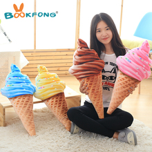 BOOKFONG 30CM design 3D sweet ice cream pillow cushion car waist support cushion Soft Plush Stuffed Doll Toys Creative Pillow