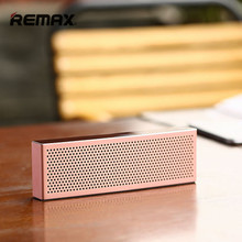 Remax unique design stereo portable wireless Metal Bluetooth Speaker with TF port with mic AUX for MP3 Player iPhone