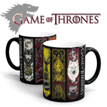 Drop shipping- Game Of Thrones mugs Tribal totem mug color changing magic mugs cup Tea coffee mug cup for friend children gift(China)