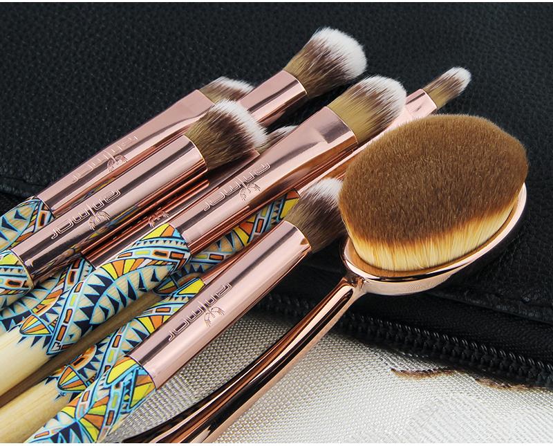 Anmor Nouveau 9 PCS Maquillage Pinceaux Synthétique Souple Maquillage Brosses avec Sac Noir 7