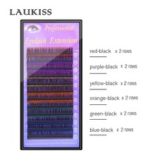 LAUKISS Eyelashes Color, Rainbow False Eyelashes Color Six Mix, Eyelashes Extension Lashes Color For Party Faux Cils Natural