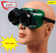 10 PCS High Quality gafas Seguridad Trabajo green Double mirror laser goggles infrared Ultraviolet safety glasses welding(China)