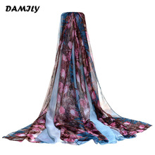 Sarong Summer Print Scarf Rose Bushes Large Shawl Women Pareo Beach Cover Up Wrap Holidays Bikini Dress Hijab Scarves(China)