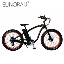 "EUNORAU e bike 350W powerful fat 36V Lithium Battery 26""X4.0 Off road Electric bicycle"