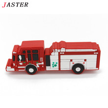 JASTER New arrival car model pendrive 4GB 8GB 16GB 32GB Fire Fighting Truck model USB flash drive Pen drive memory stick U disk