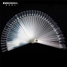 50Pcs Clear Plastic False Nail Art Tips Sticks Polish Display Fan Practice DIY Tools Board Manicure Kit Set