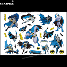 SHNAPIGN Cute Batman Children Cartoon Temporary Tattoos Sticker Fashion Summer Style Elsa Waterproof Girls Kids Boys Hot