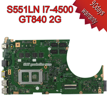 For ASUS K551L K551LB K551LD K551LN S551L S551LB S551LD S551LN Motherboard S551lN REV2.2 Mainboard i7-4500 GT840 Free shipping