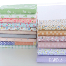 Free shipping 160x50cm Twill Cotton Cloth Dress Skirt Baby Clothes Garment diy bedding apron fabric Floral cloth group 180g/m